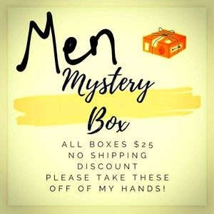 Mystery box for men- sizes vary